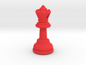 PENDANT : CHESS QUEEN (small - 32.6mm) in Red Strong & Flexible Polished