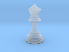PENDANT : CHESS QUEEN (small - 32.6mm) in Smooth Fine Detail Plastic