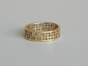 Basket Weave Ring in Polished Bronze: 9 / 59