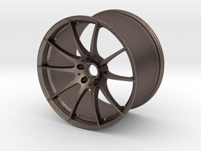 Scaled Performance Wheel 2 in Polished Bronzed Silver Steel