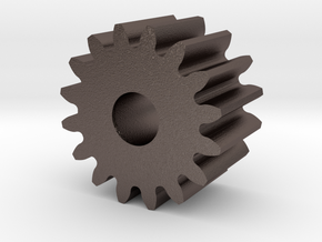 Spur Gear M1 Z16 in Polished Bronzed Silver Steel
