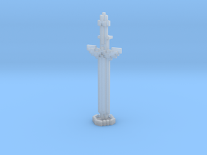 Pixel Art Sword And Stand in Smooth Fine Detail Plastic