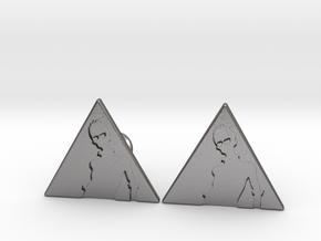 Custom Logo Cufflinks in Polished Nickel Steel