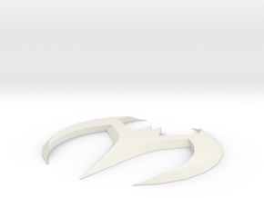Batman Beyond Batarang in White Natural Versatile Plastic