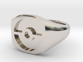 Pokeball Ring-Wide Band (Edit size in description) in Platinum