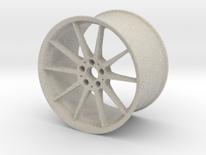 Scaled Performance Wheel in Natural Sandstone