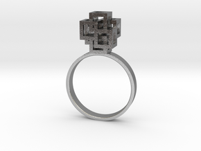 Quadro Ring - US 7 in Natural Silver