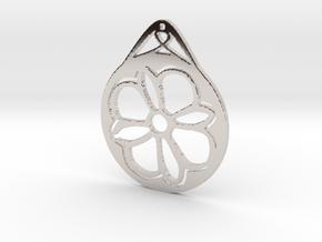 Hanging Ornament ~ Medieval Tile Design  in Platinum