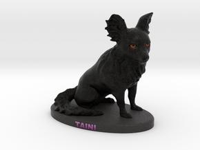 Custom Dog Figurine - Taini in Full Color Sandstone