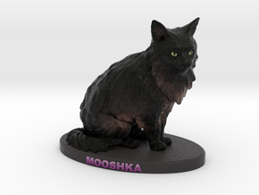 Custom Cat Figurine - Mooshka in Full Color Sandstone