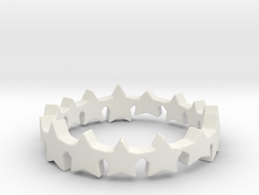 The Stars Shine Brighter   Size 5 in White Natural Versatile Plastic