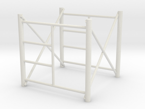 1/64 Scaffolding 1 high in White Strong & Flexible