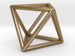 Vega Frame Single in Polished Gold Steel