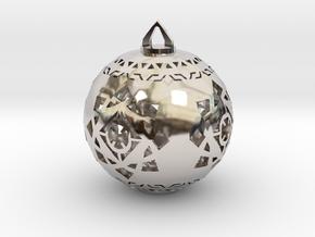 Scifi Ornament 1 in Platinum