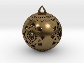Scifi Ornament 1 in Natural Bronze