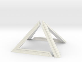 David Pyramid Thick - 6cm in White Natural Versatile Plastic