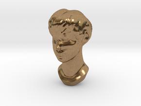 Female Head 2 in Natural Brass