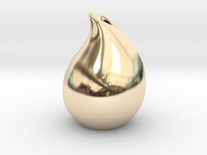 Droplet vase in 14K Gold
