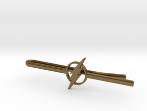 Flash Tie Clip   in Natural Bronze