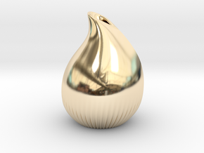 Drop vase in 14K Yellow Gold