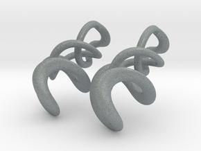 Tumbling loops earrings in Polished Metallic Plastic