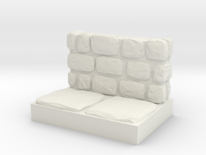 Dungeon 1x2 Side Wall in White Natural Versatile Plastic