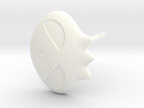 Yoko Skull Clip Stud Earring Remix (.333in) in White Processed Versatile Plastic