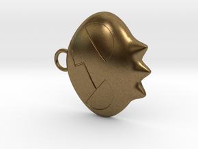 Yoko Skull Clip Dangle Earring Remix (1in) in Natural Bronze