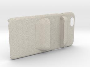 Holding Frisk iPhone6 4.7inch case.stl in Natural Sandstone
