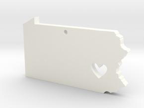 I love Pennsylvania Pendant in White Processed Versatile Plastic