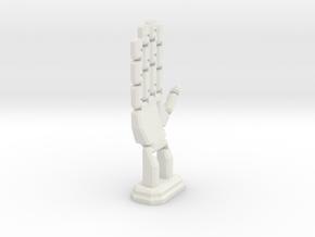 Copy Of Hand - Fully Assembled in White Natural Versatile Plastic