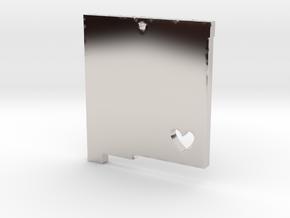 New Mexico Love Pendant in Platinum