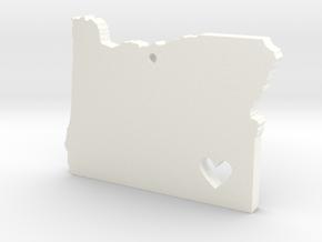 I love Oregon Pendant in White Processed Versatile Plastic