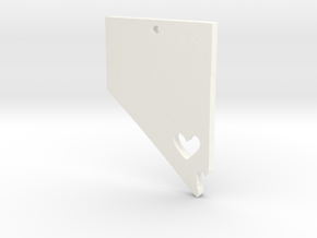 I Love Nevada Pendant in White Processed Versatile Plastic