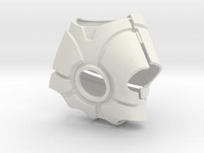 Metal Iron Man Left Palm Armor (Size Large) in White Natural Versatile Plastic