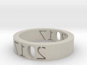 Ring 2017 in Natural Sandstone