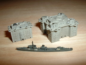 Flakbunker Hamburg Heiligengeistfeld 1/2400 in Smooth Fine Detail Plastic