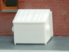Dumpster 6 yd Capacity Slanted HO 1/87 Scale in White Strong & Flexible