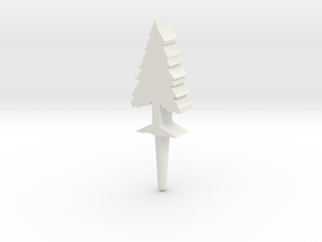 Tree Peg in White Natural Versatile Plastic