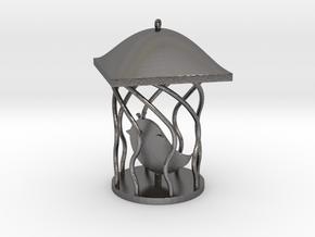 Bird Pendant in Polished Nickel Steel
