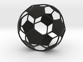 Classic Soccer ball (football) in Black Natural Versatile Plastic