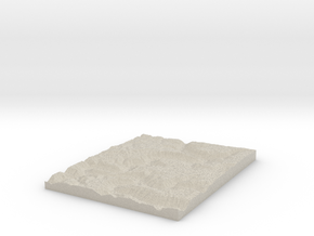 Model of Dowdy Bluff in Natural Sandstone