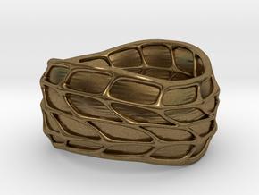 Panel Twist Ring (Sz 8) in Natural Bronze