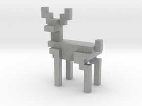 8bit reindeer with sharp corners in Metallic Plastic