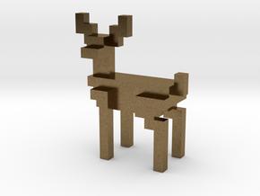 8bit reindeer with sharp corners in Natural Bronze