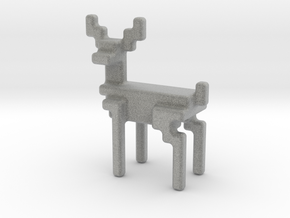 8bit reindeer with rounded corners in Metallic Plastic
