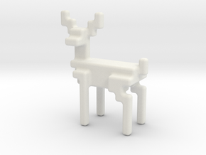 8bit reindeer with rounded corners in White Natural Versatile Plastic