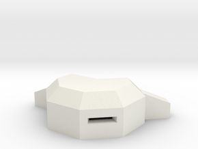 MG pillbox 2 in White Natural Versatile Plastic
