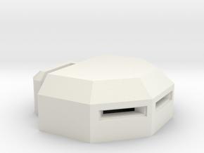 MG Pillbox 3 in White Natural Versatile Plastic