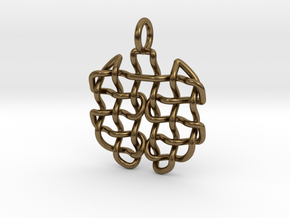 Woven pendant in Natural Bronze